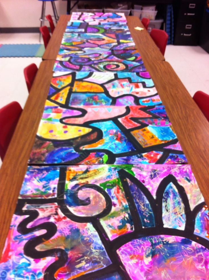 Collaborative Classroom Projects ~ Drip splatter splash collaborative watercolor