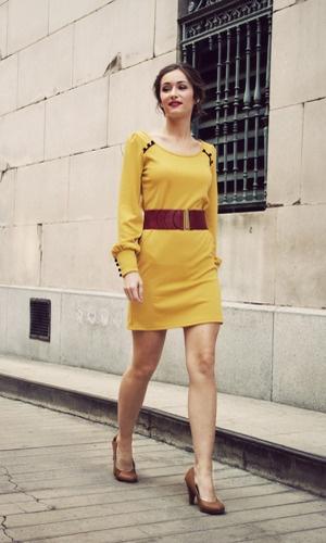 zoe mustard dress / shopkempt