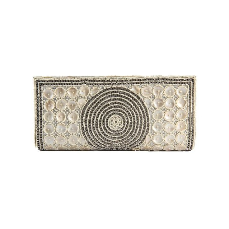 Favola Fancy Bead and Mother of Pearl Embellished Silk Brocade Festive #Clutch #Bag #onlineshoppinghttp://goo.gl/kNfiLp