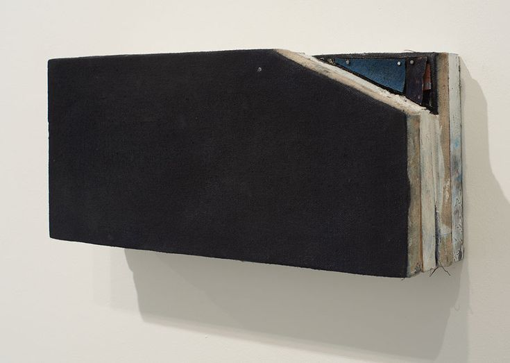 <b>Title:</b>Section and Plan <br /><b>Year:</b>2014<br /><b>Medium:</b>Oil on linen and wood<br /><b>Size:</b>15 x 33 x 8 cm