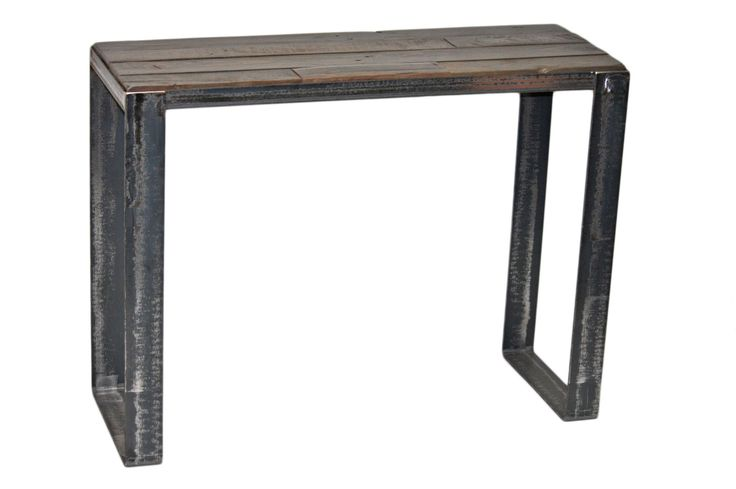 Console en bois de grange #table #living #room #acier #steel #meuble #furniture #industriel #industrial #design #wood #bois
