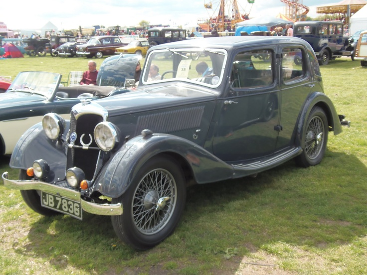 1935 Riley Merlin 9hp.  Designed by Percy and Stanley  Riley, the Riley 9 launched in 1926 and was one of the most successful British cars produced between the wars.  The Merlin was first produced for the 1936 model year and had a 1087cc twin-cam engine.