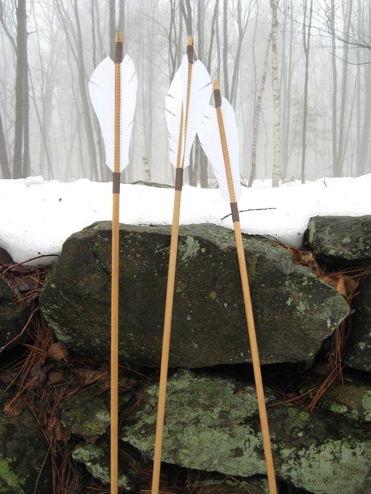 Flecha de madera tradicional de tiro con arco flechas de tiro