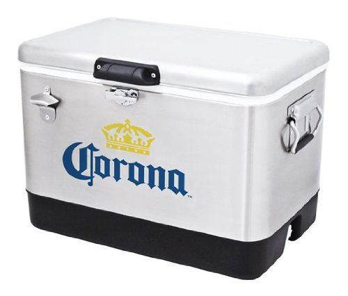 Corona Stainless Steel Beer Cooler 54 quart with Bottle Opener Coleman, http://www.amazon.com/dp/B00I0HFC44/ref=cm_sw_r_pi_awdm_XdC9vb08JX12H