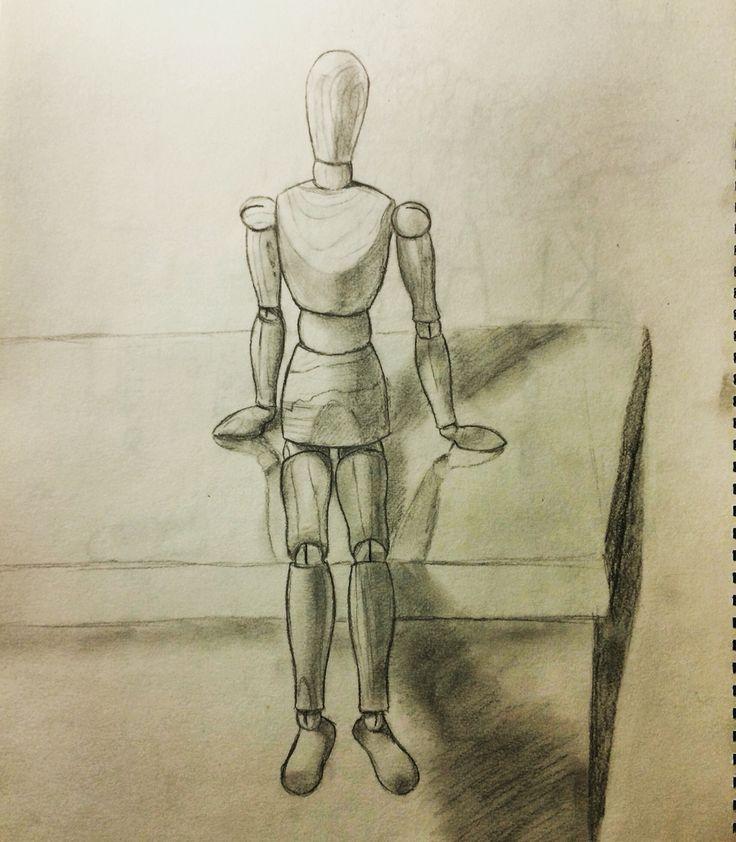 Wooden man sketch for design