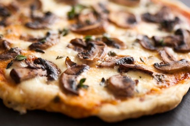 Use your skillet to make this Mushroom + Cheese Pizza recipe.