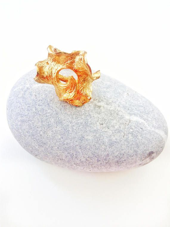 Gold Nautilus Statement Ring Sea Snail Shell Jewelry For Her