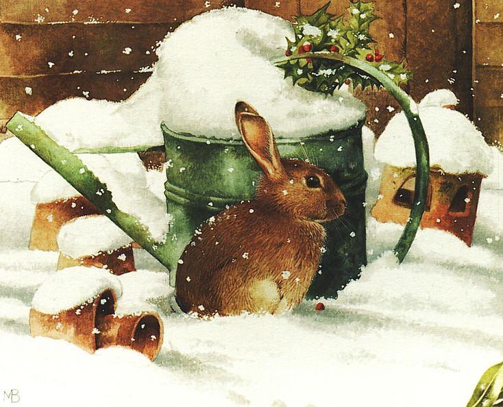 Konijn in de sneeuw by Marjolein Bastin
