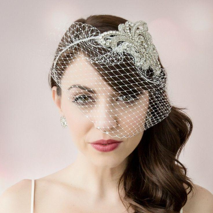 Vivian Birdcage Veil - Headpieces