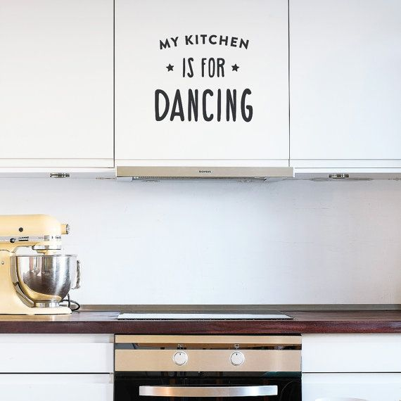 Wall decal quote A clean kitchen is a sign of a by MadeofSundays
