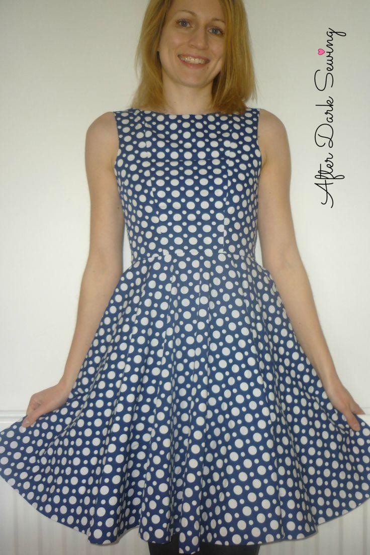 Simple Sew Ruby Dress - Blue Polka Dots! 4