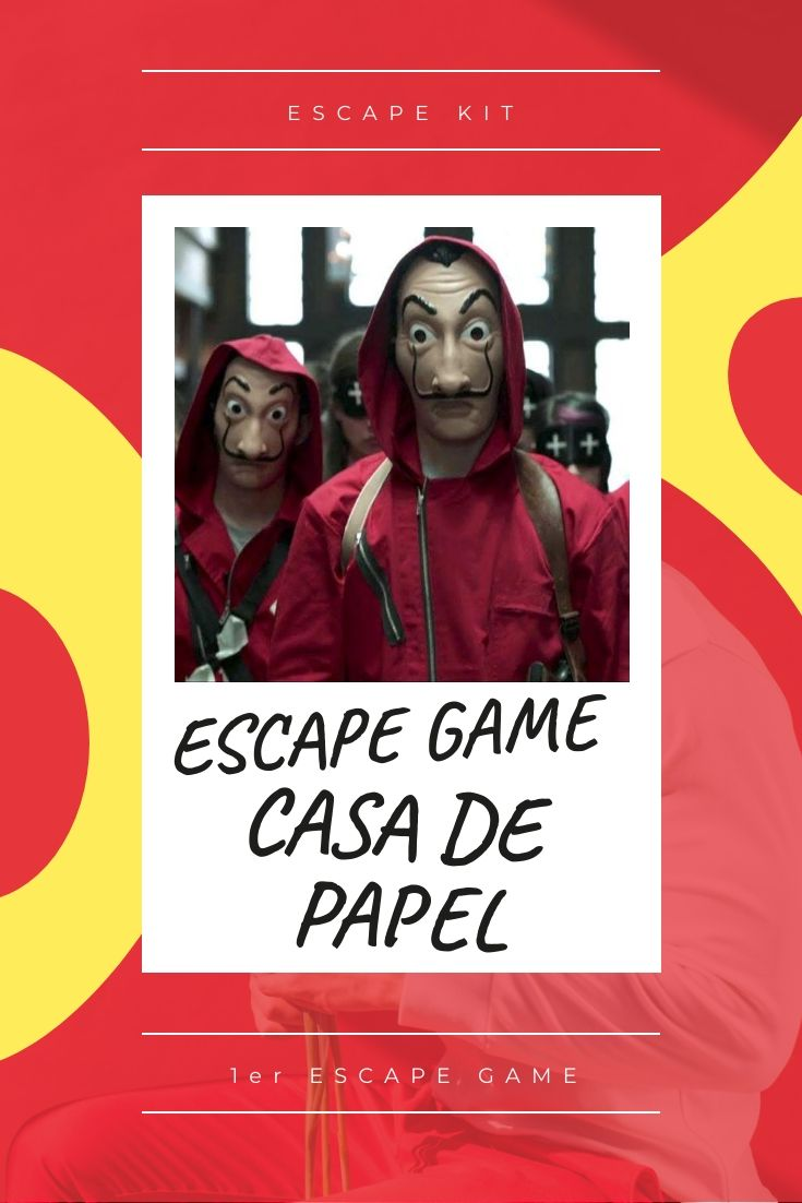 Escape Game La Casa De Papel : escape, papel, ESCAPE, PAPEL, Escape, Game,, Braquage,