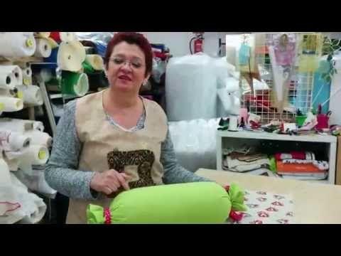 TUTORIAL COJIN CARAMELO O RULO - YouTube