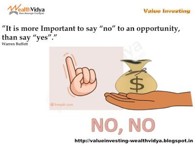 Value Investing: Importance of Saying No to Investment Opportunitie...