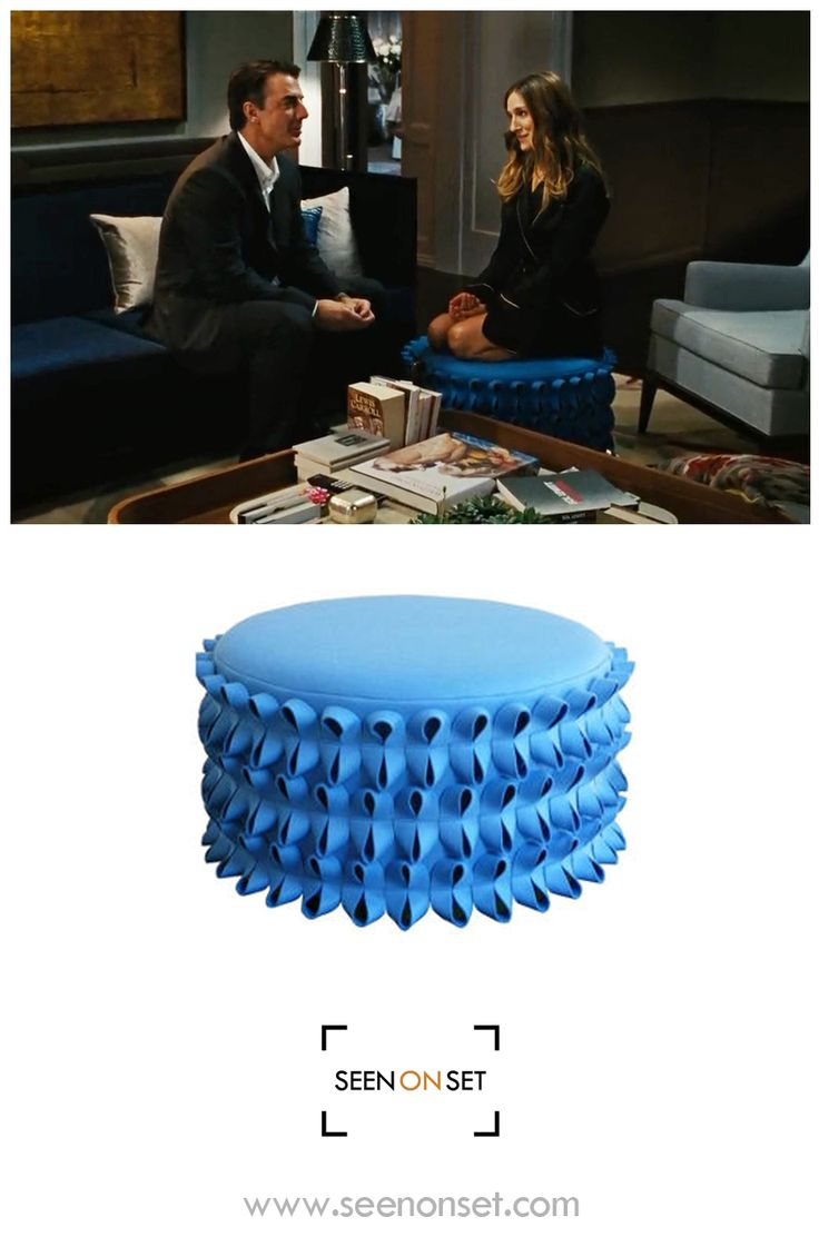 Carrie Bradshaw Sits On The Lola Ottoman By Anne Kyyrö Quinn In Sex And The  City