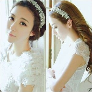 Sparkling Black Base Hoop Bridal Hairband