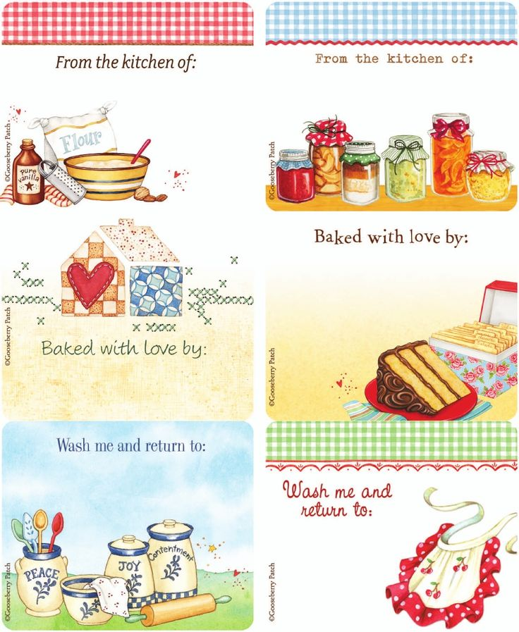 Gooseberry Patch Kitchen Labels