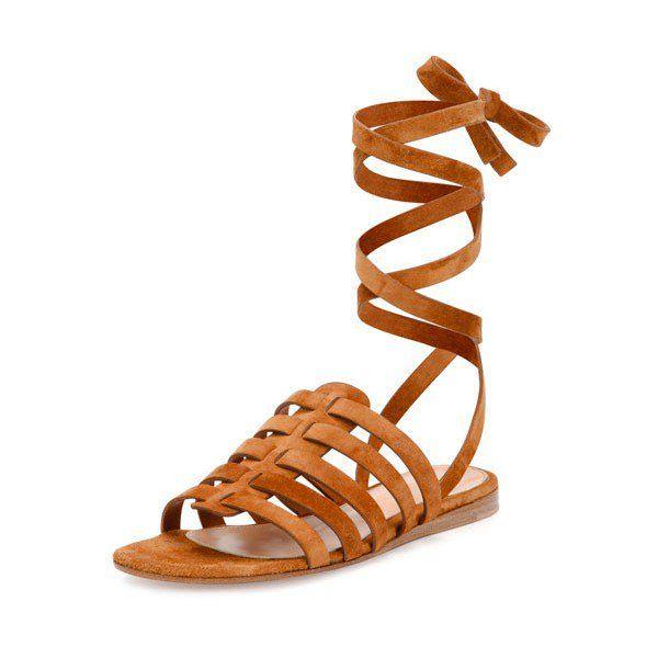 cb0b61e9f12 Tan Gladiator Sandals Comfortable Flats Strappy Sandals