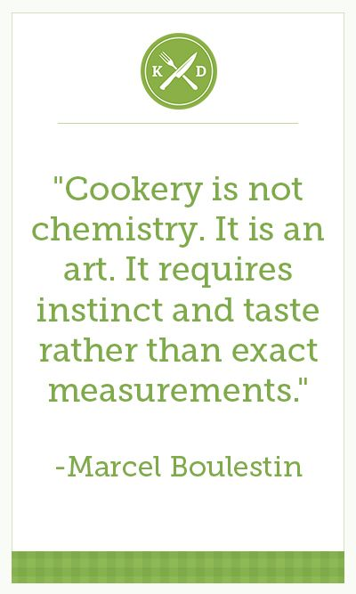 It is still quite a bit of chemistry though :) I never used exact measurements in chemistry either (shhhh!).