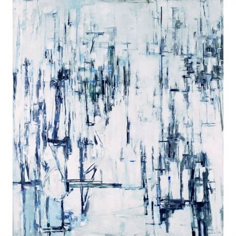 "Maria Helena Vieira da Silva, ""Hiver"" , oil on canvas (162x146cm) (1960)"