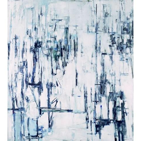 "Maria Helena Vieira da Silva, ""Hiver"" , oil on canvas (162x146cm) (1960)"