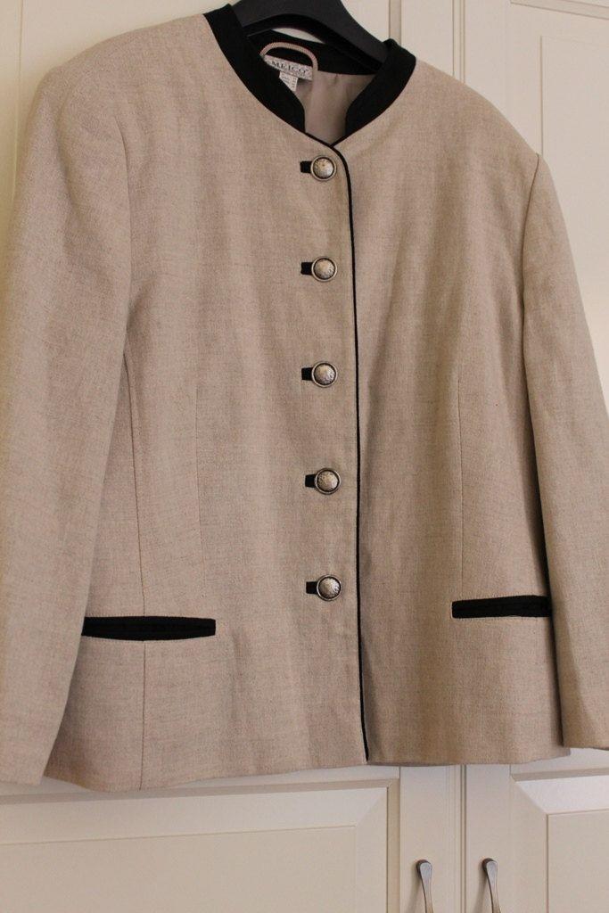 giacca  ecru lino -cotone-Meico di Larettacollections su Etsy