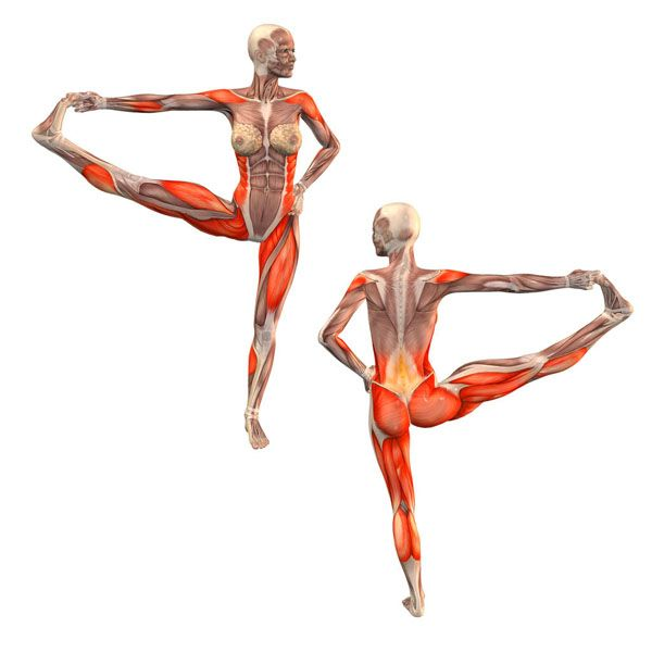 Advanced extended right hand to big toe pose - Utthita Hasta Padangustasana advanced right - Yoga Poses | YOGA.com