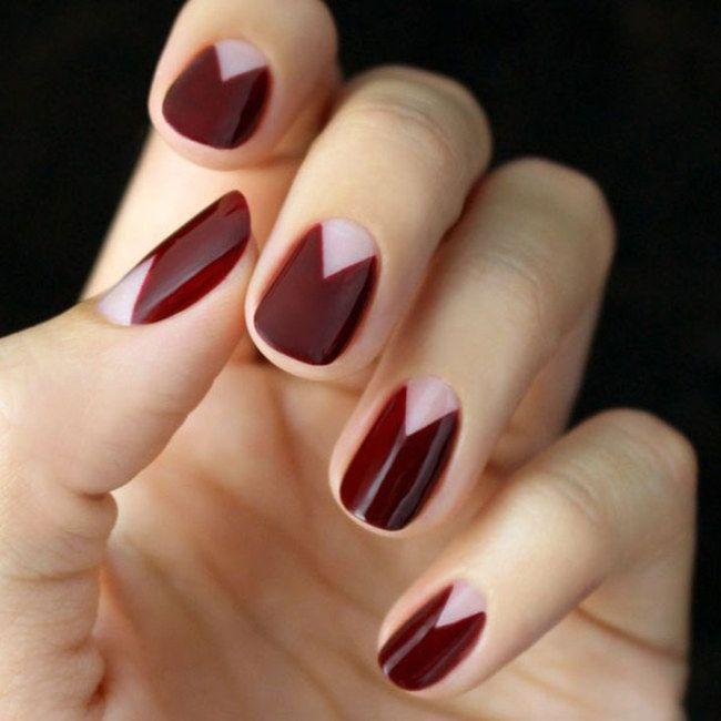 Dark Trilliant by @HannahRoxNails in Motives Nail Polish(Risque)!   #Moon #Gemstone #Triangle