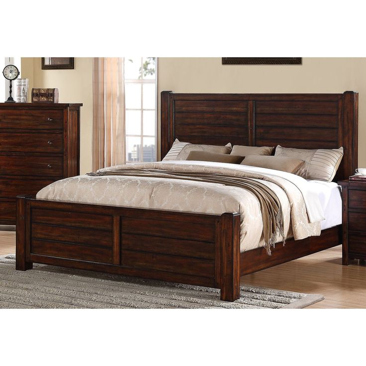 Picket House Danner Hardwood Distressed Finish Panel Bed