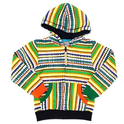 boys green thick winter warm zip up hoody aztec jumper Jacket-SN2-AJ3213-C-OraWhiGrn $19.00 on Ozsale.com.au