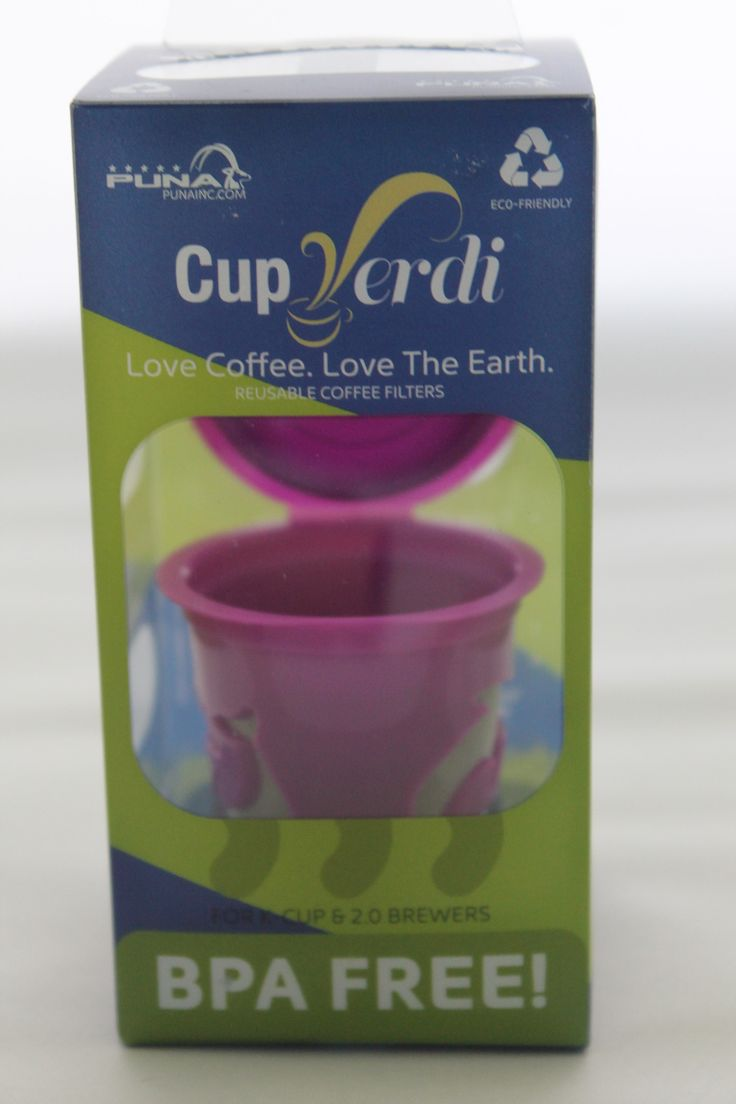 Cup Verde® Reusable 2.0 K-Cup For Keurig 2.0 and Other Coffe Brewers