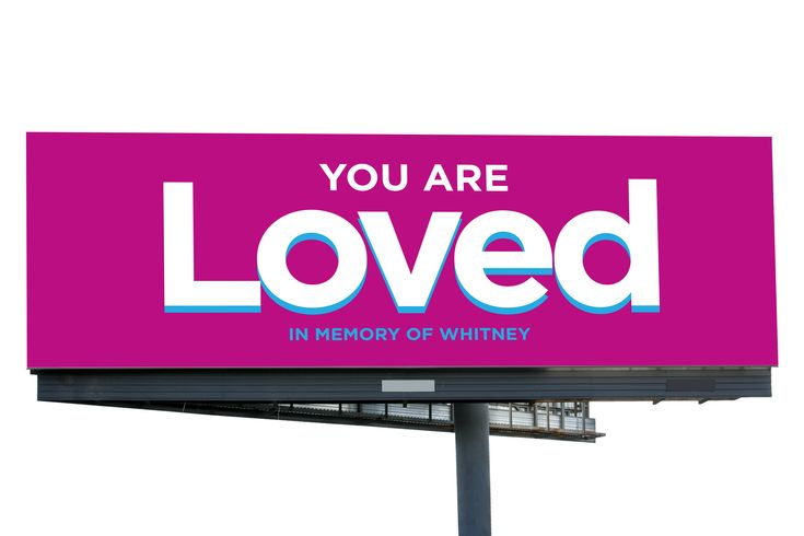Billboard campaign by Epic Marketing for Collin Kartchner focused on conveying positive, uplifting messages to combat negative social media and ad campaigns. #youareloved #youarebeautiful #savethekids #savetheparents #epicmarketing #marketing #billboard #graphicdesign