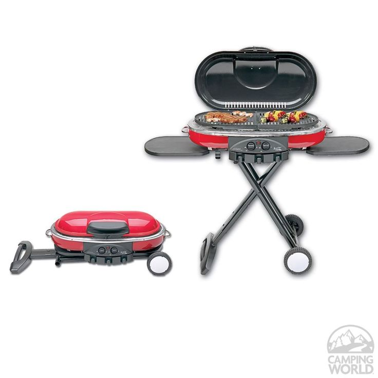 Enjoy real open-flame grilling flavor on a grill that folds up and rolls away.