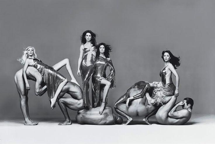 Richard Avedon - versace - campaign group shot