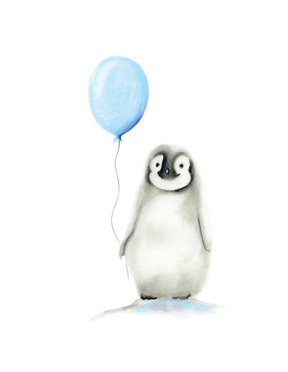 Pinguïn kwekerij kunst arctische dier ballon Boy kwekerij