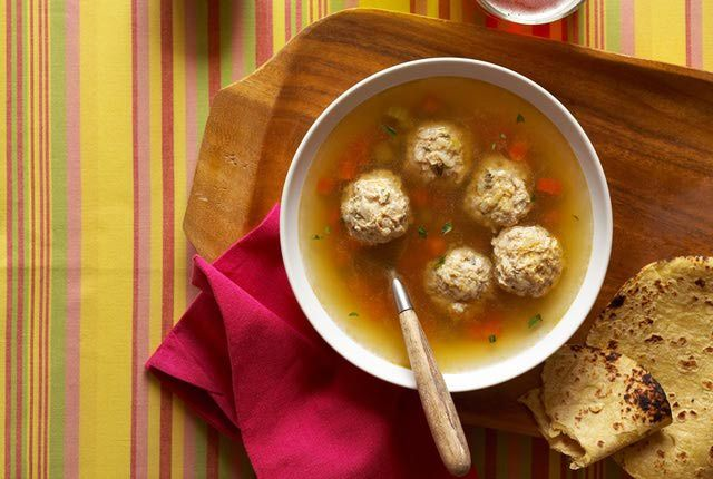 Tasty Albondigas Mexican Meatball Soup with Corn Added