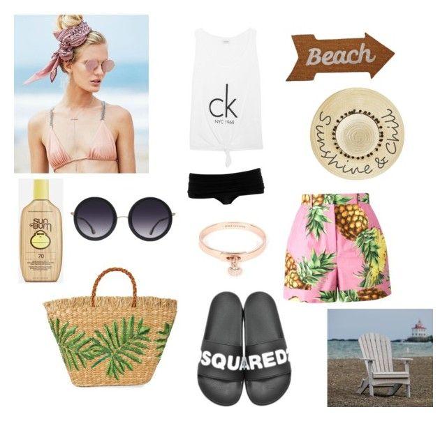 """Beach"" by gloriatovizi on Polyvore featuring Beach Riot, Norma Kamali, Calvin Klein, Dolce&Gabbana, Dsquared2, Betsey Johnson, Alice + Olivia, Aranáz, Juicy Couture and Sun Bum"