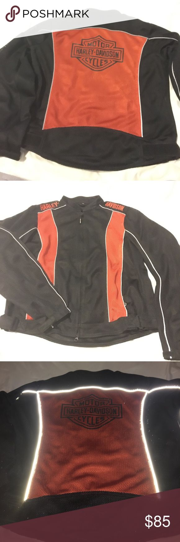 Harley Davidson motorcycle jacket This jacket was a gift but Im not much into the brand.  Size is Tall (I'm assuming women's since it doesn't seem to run too big but not too sure) It's authentic Harley-Davidson Jackets & Coats Utility Jackets