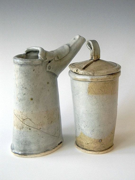 Hand Built Cream and Sugar Set by lbcooper on Etsy