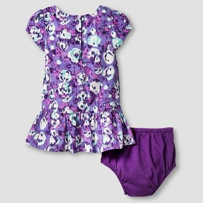 Baby Girls' Dress and Cropped Cardigan Baby Cat & Jack - Purple/Almond Cream NB, Infant Girl's, Beige