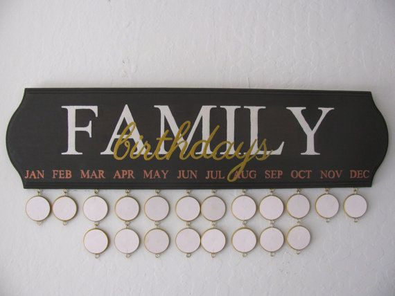 Birthday Reminder Board by SuzannahsPretties on Etsy, $48.00