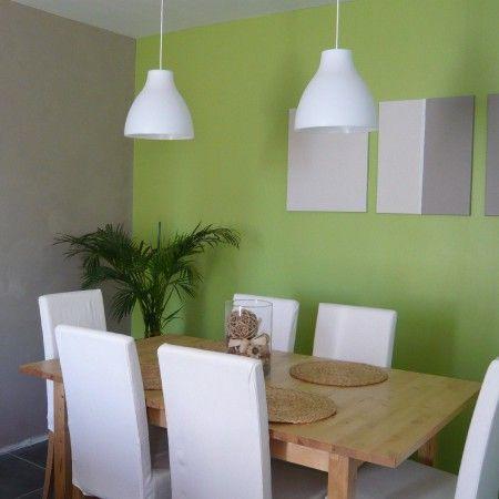 Comedor Blanco Verde Moderno