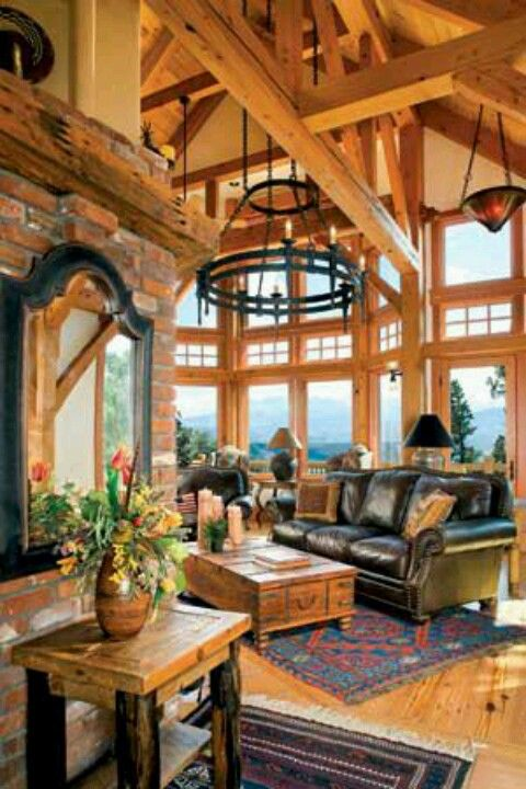 Great Room Of Rustic Cabin Cottage Or Lodge Also Called