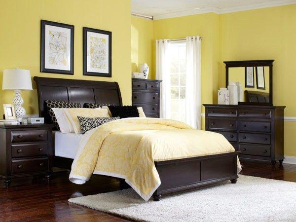 Broyhill Furniture - Farnsworth 5 Piece Eastern King Sleigh Bedroom Set - BRO-4856-264-265-450-450-5SET