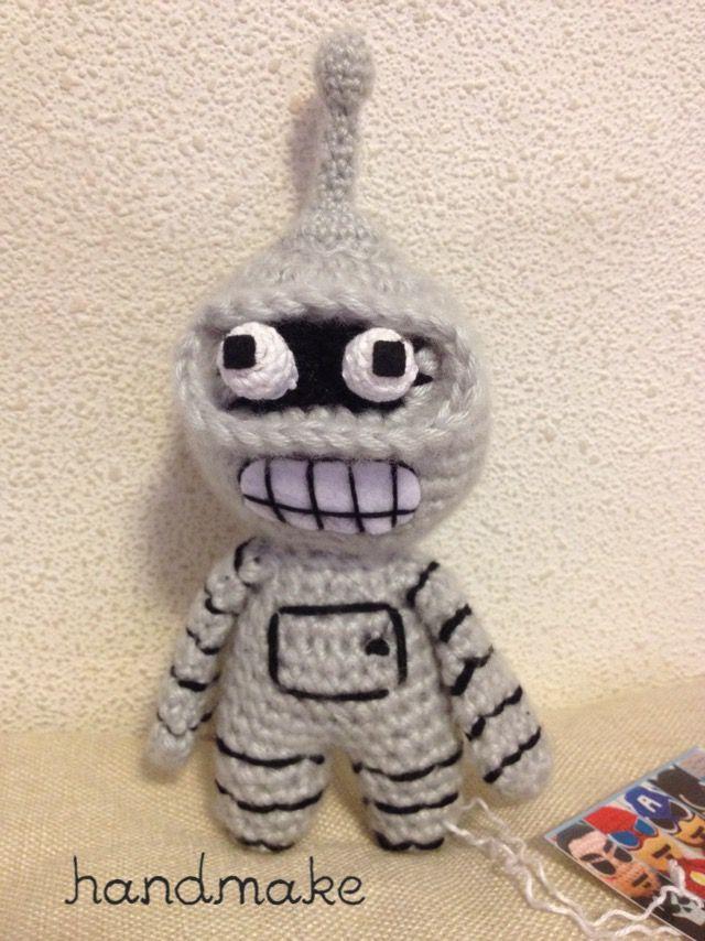 Bender action figure #handmake #handmade #actionfigure #toy #amigurumi #bender #futurama #collection #коллекционнаяфигурка#коллекционнаяигрушка #бендер #футурама #футурамабендер #игрушка #амигуруми #колекция #ручнаяработа