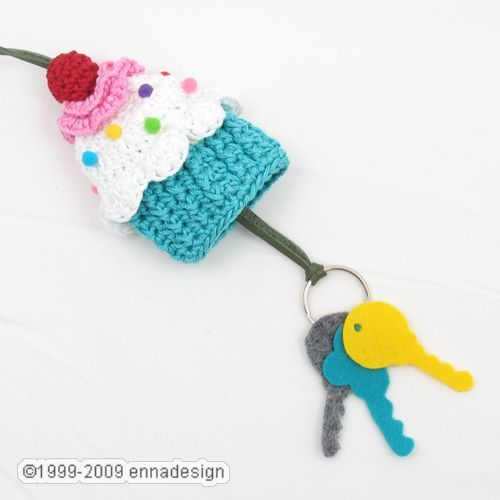 #crochet #DIY #gift Cupcake keys holder - what a great idea!!