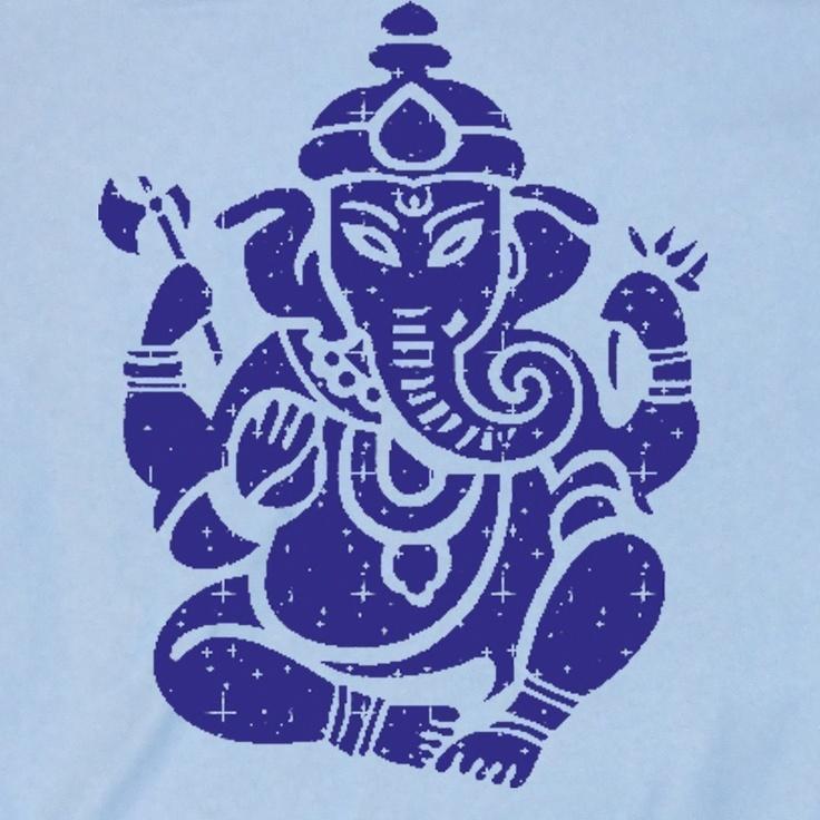 Mens, Unisex GANESH T Shirt - Tonal Diety Graphic Print Hindu T-Shirt (s,m,l, xl) American Apparel. $18.00, via Etsy.