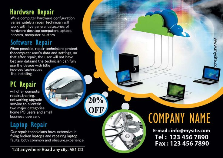 Are you in search of computer repair flyers printers in UK - computer repair flyer template