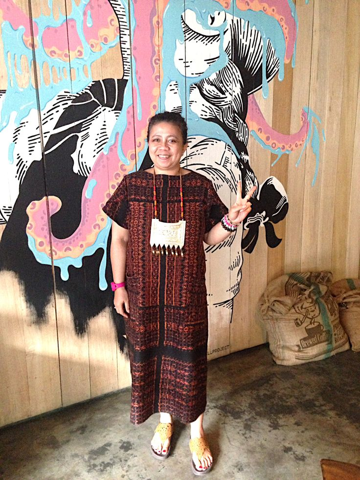 My eclectic ethnic style. Wearing my Tenun Maumere dress handwoven sarong. Copyrights Vivi