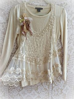 Love this lace shirt from PARIS Rags